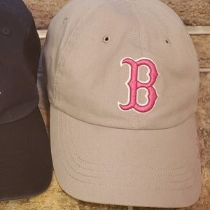 Special Edition Red Sox ballcap- gray and pink